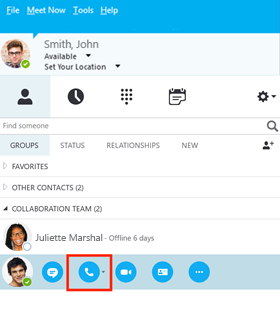 Making a Call with Skype for Business | BT for global business