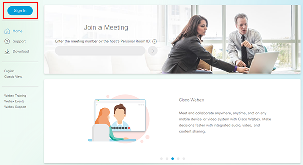 Getting started with Webex Meetings | BT for global business