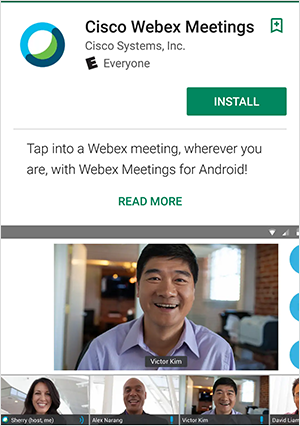 Using Webex Meetings app on Android | BT for global business