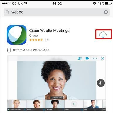 Using Webex Meetings app on iPhone | BT for global business