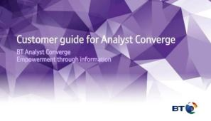 Customer guide for Analyst Converge