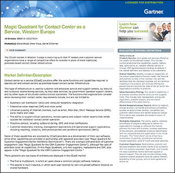 2015 Gartner Magic Quadrant