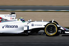 BT brand on Williams Martini car