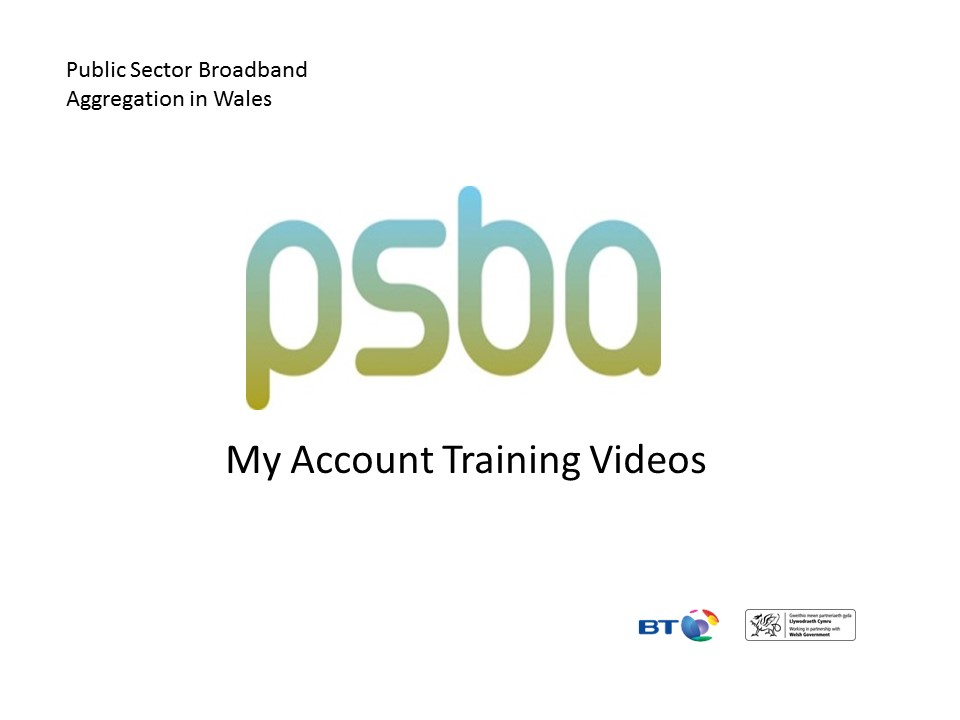 View PSBA1 – My Account Overview
